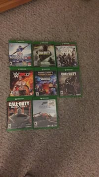 Assorted xbox one games  Bakersfield, 93313