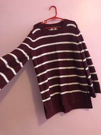 Maroon and white stripe sweater Oakland, 94619