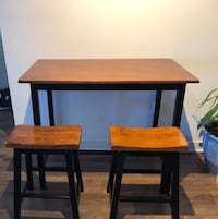 Counter height wood dining table and stools Washington, 20001
