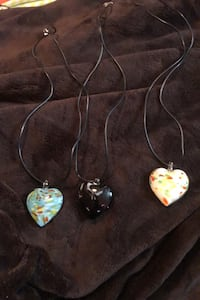 Murano glass heart necklace's $9 pick up only! Toronto, M3A 2W7