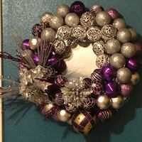 Beautiful Christmas wreath. Purple and silver McAllen, 78501