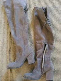 Theigh high boots