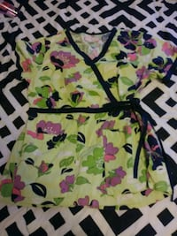green and black floral spaghetti strap dress Cottonwood, 86326