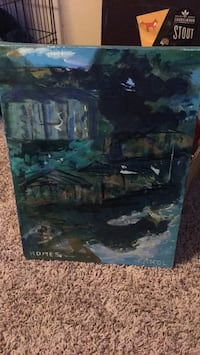 Black and green abstract painting Vancouver, 98663