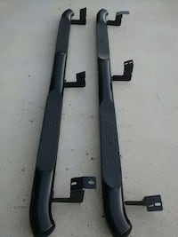 two black running boards