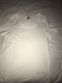 ASOS white uneck shirt small