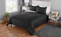 New reversible queen comforter - black/gray Ashburn
