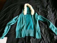 TEAL JACKET WITH WHITE WOOL TEENAGER SIZE 10/12 Hickory Hills, 60457