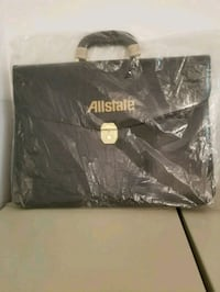 Leather briefcase with Allstate Ins logo Forestville