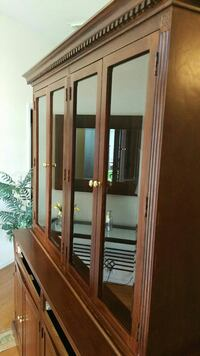 brown wooden china cabinet Houston, 77077