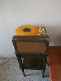 60s record player. Works. With table