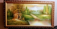 Golden frame large Painting null