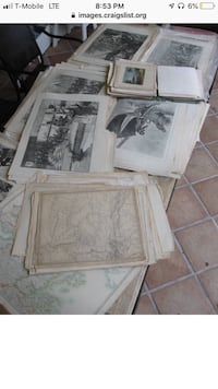 Antique engravings, maps and newspapers  Los Angeles, 90020