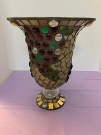 Glass mosaic vase