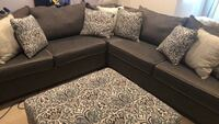 Grey sectional with  ottoman Chantilly, 20152