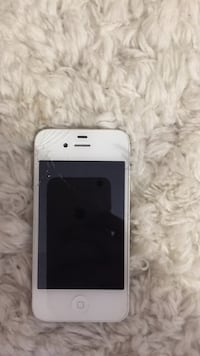 white cracked iphone 4s 296 mi