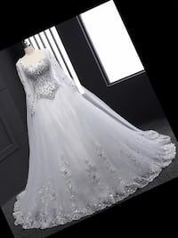 Hand beaded crystal bridal gown