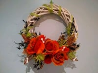 yellow and red artificial flower wreath Hamilton, L8G 4X3