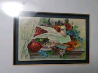 Antique Greeting Card from Germany with frame (over 100 years old) Toronto, M4E 3C2