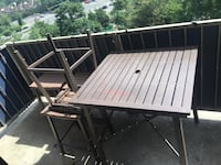 Balcony table and 4 saddle chairs Alexandria, 22303