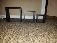 3 wall hanging shelves