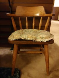 Wooden Chair with removable Seat Cushion