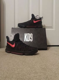 Brand new Kd9 worn once on indoor bball court