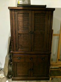 brown wooden cabinet with drawer Laredo
