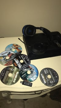 Black sony ps3 console with game disc lot Brandon, 39047