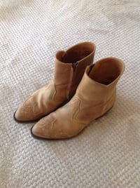 Pair of brown leather cowboy/jeans boots Waterloo