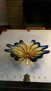 Genuine murano art glass tray 533 km