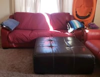 FREE large red sofa and ottoman