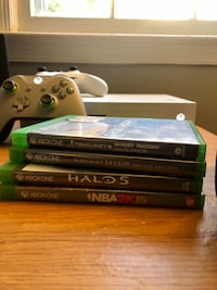 Xbox one S with games and controllers 500gbs with headset  Montgomery Village, 20886