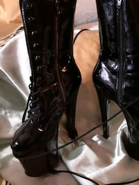"""Sexy 6""""Platform laced up boots"""