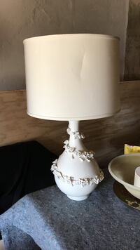 White ceramic base table lamp Laurel, 20724