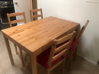 Wooden Table + 4 chairs  Alexandria, 22303