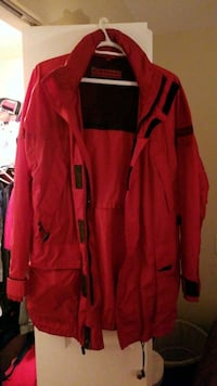 Burberry red and black zip-up jacket Vancouver, V6B 3E1