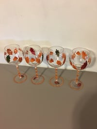 Fall themed wine glasses.
