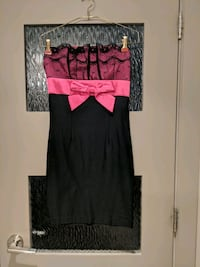 Strapless pink and black dress size small Calgary, T2E 0B4