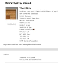 NEW Wood Blinds - still in packaging