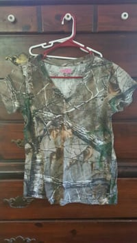 gray and green camouflage button-up shirt Williamson, 30292