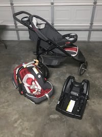 Baby's black and red travel system Pharr, 78577