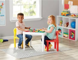 Mainstays Kids  2-in- 1 Construction Table, 3 Pieces. Ages 3-6.