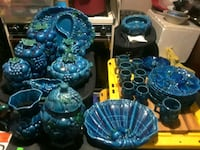 blue and green ceramic table decors Carter Lake, 51510