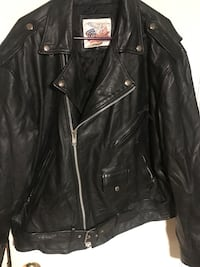 black leather zip-up jacket Beech Island, 29842
