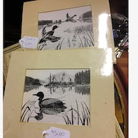 Ron White Duck Drawings Matted 5x7 Lancaster, 17602