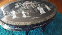 Asian carved table ebony claw foot carved mother of pearl Las Vegas