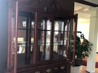 Brown wooden framed glass china cabinet Leesburg, 20176