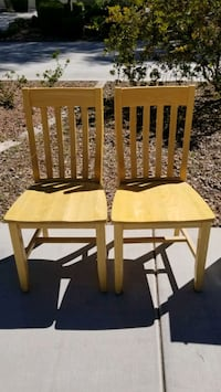 Two Solid Wood chairs Las Vegas, 89129