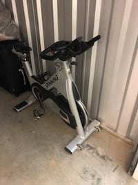 Black and gray stationary bike Stafford, 22556